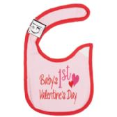 144 Units of First Valentine's Day Baby Bib - Baby Apparel