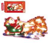 "24 Units of 20L 2-Deer sleigh w/santa 17.5x9.5"" UL"