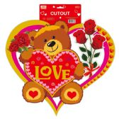 "96 Units of 18"" V-day 3D cutout - Valentine Cut Out's Decoration"