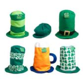 48 Units of St Pats Felt Hat in 6 asst Mixed Styles W/jhook - St. Patricks