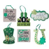 72 Units of WALL PLAQUE ST PATRICKS 6ASST MDF - St. Patricks