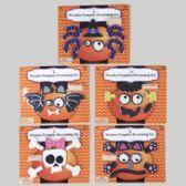 60 Units of Pumpkin Decorating Kit 12-20ct 5ast Wood Styles/hall Blscard
