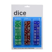 60 Units of Dice Crystal Clear Set 48pc - Dominoes & Chess