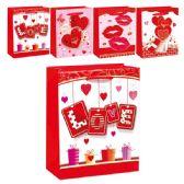 "144 Units of V-day 3D bag 7.5x9x4""/Medium - Valentine Gift Bag's"