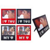96 Units of Valentines Day Glass Photo Frame - Valentine Decorations