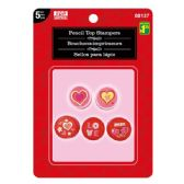 96 Units of Valentines Day Pencil Top Stampers - Valentine Decorations