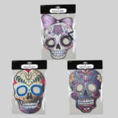 36 Units of Sugar Skull Mask in 3asst Graphic Print Eva/felt Backed Full Face Halloween Pbh - Masks