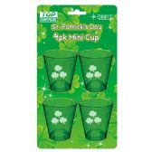 96 Units of 4 Pack St.patrick mini cup - St. Patricks