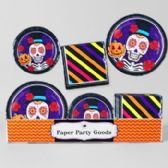 96 Units of 8pc Pdq Sugarskull/ DOD Paper Party Goods - Party Tableware