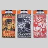 72 Units of 3 asst Hanging Decor Warning Signs