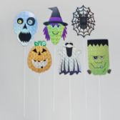 72 Units of 6 asst/28in Halloween Style Holographic Yard Sign