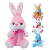 48 Units of Ten Inch Bunny With Ribbon - Easter