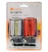 48 Units of 2 Piece Bicycle Safety Flashlight Set