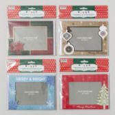 96 Units of 6pk Photoframe Christmas Cards W/envelopes - Christmas Cards
