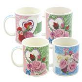 96 Units of Mug Assorted Design. 12oz