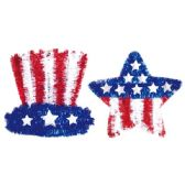 "108 Units of 18""July 4th tinsel decoration - 4th Of July"