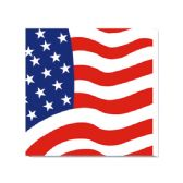 96 Units of 20 Count/2ply napkin flag - 4th Of July
