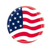 "96 Units of 7""/8 Count paper plate flag - 4th Of July"