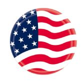 "96 Units of 9""/8 Count paper plate flag - 4th Of July"
