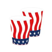 96 Units of 9oz/8 Count paper cup flag - 4th Of July