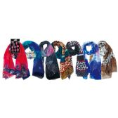 48 Units of Lady's Scarf Assorted Prints - Winter Scarves