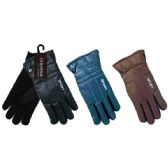48 Units of Men's gloves man made leather - Leather Gloves