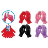 72 Units of Ladies Texting Gloves Assorted Colors - Winter Gloves
