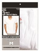 48 Units of Men's T-shirts v neck Size Medium - Mens T-Shirts