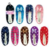 72 Units of Lady's fuzzy slippers size 7/8-9/11
