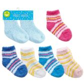 96 Units of Baby fuzzy socks in assorted colors and sizes assorted sizes - Baby Accessories