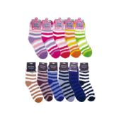 96 Units of Fuzzy socks in Assorted Colors - Womens Fuzzy Socks