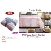 "8 Units of 2.5kg Premier fleece blanket 75x91""/190x230cm"