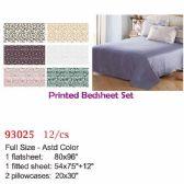 12 Units of Printed bed sheet set/Full