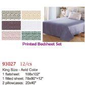 12 Units of Printed bed sheet set/King