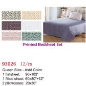 12 Units of Printed bed sheet set/Queen