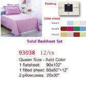 12 Units of Solid bed sheet set/Queen - Bedding Sets