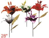 """72 Units of 28"""" Flower with Glitter - Artificial Flowers"""