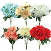 48 Units of Seven Head Flower Assorted Colors - Artificial Flowers