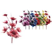 """48 Units of 38""""/8 Heads flower with Glitter - Artificial Flowers"""