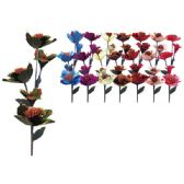 """48 Units of 47""""-5 Heads flower with Glitter - Artificial Flowers"""