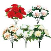 144 Units of Nine Heads Flower Assorted Color - Artificial Flowers