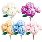 24 Units of Five Head Flower Assorted Colors - Artificial Flowers