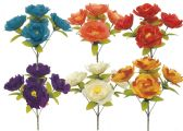 144 Units of Flower Assorted Colors