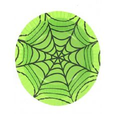 288 Units of spiderweb green 12 ounce paper bowl