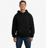 24 Units of Big Man Hooded Pullover Sweatshirt In Black