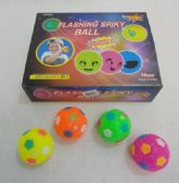 """48 Units of 2.5"""" Flashing Squeaky Spike Ball"""