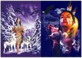 50 Units of 3D Picture 9702--American Indian with Wolves/Bear/Bison