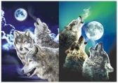 50 Units of 3D Picture 9704--Three Howling Wolves with Moon