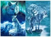 50 Units of 3D Picture 9705--Snowy Night Wolves