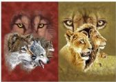 50 Units of 3D Picture 9715--Wolf Profile/Lion-Tiger Profile